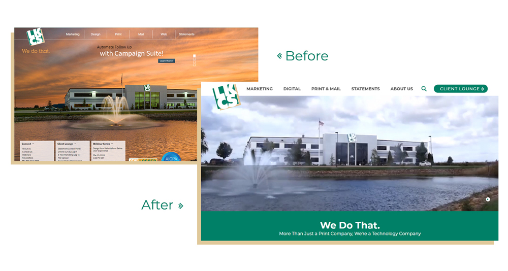 Before and After of the LKCS Website