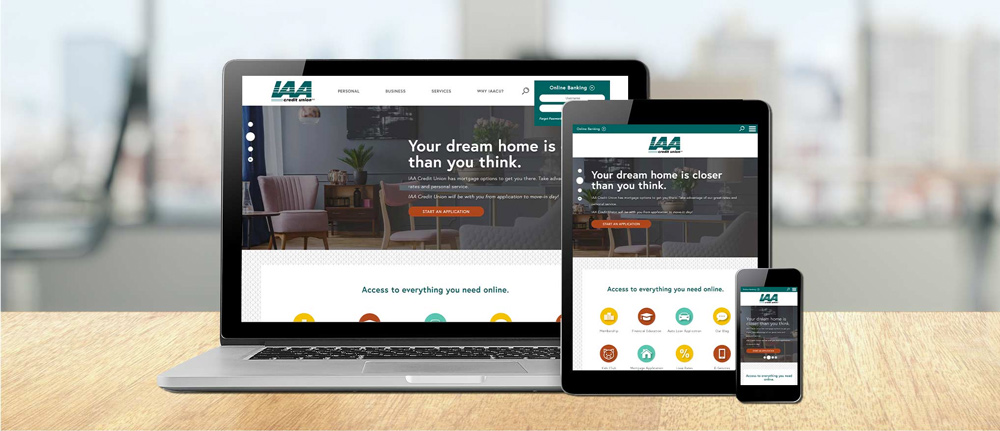 IAA Credit Union Website by LKCS