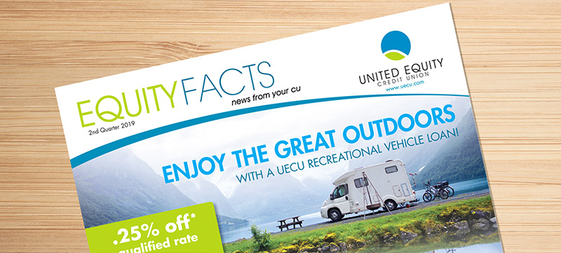Example of Sans Serif fonts used on a credit union mailer