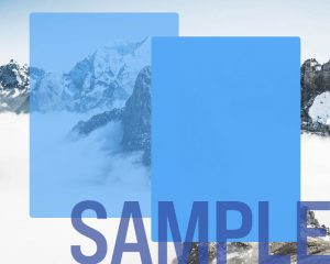 Blend Mode in Internet Explorer is only a slightly transparent blue overlay over the mountain background.