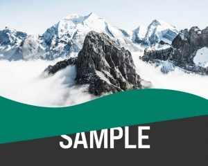 Clip path created smooth and curved shaped background over a mountain background.