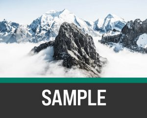 Flat lined background shaped with no curve over a mountain background