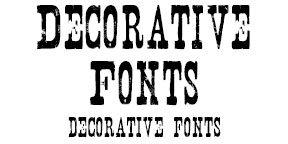 Example of Decorative Fonts