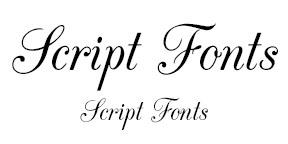 Example of Script Fonts