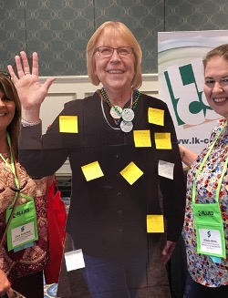 Donna's cut out photo at LKCS' conference booth