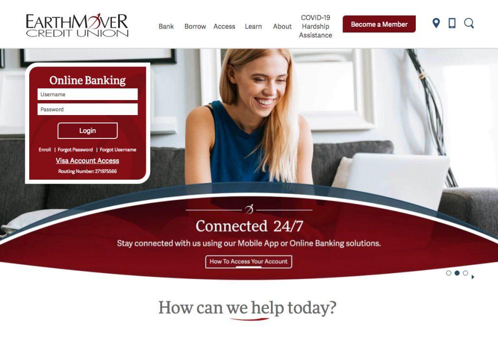 EarthMover Credit Union Website Design