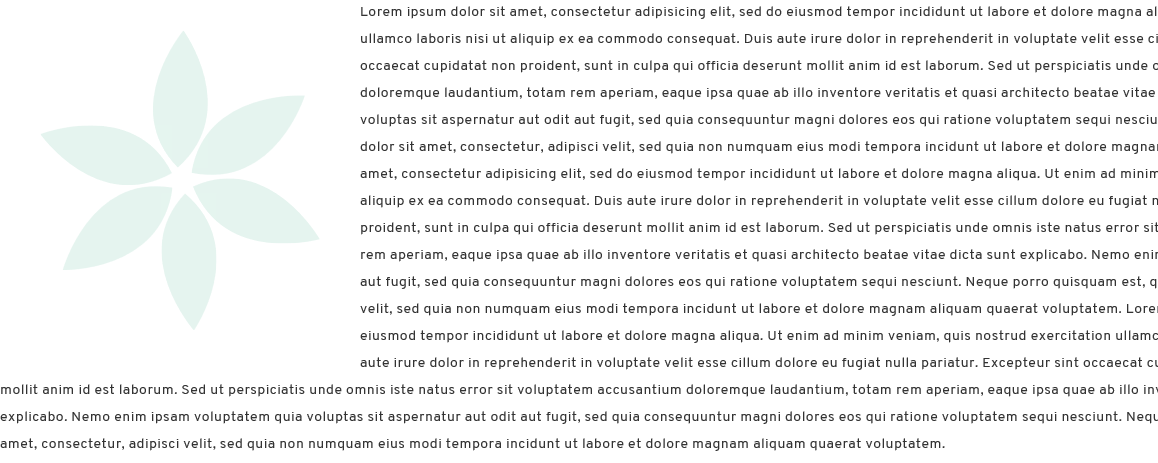 A paragraph of text wraps under an image with no curve