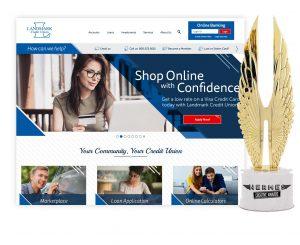 Landmark Credit Union Hermes Website Winner