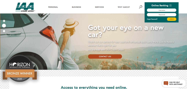 IAA Credit Union Website Design
