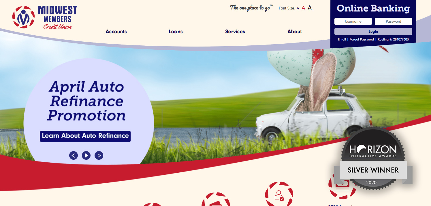 Midwest Members Credit Union Website Design