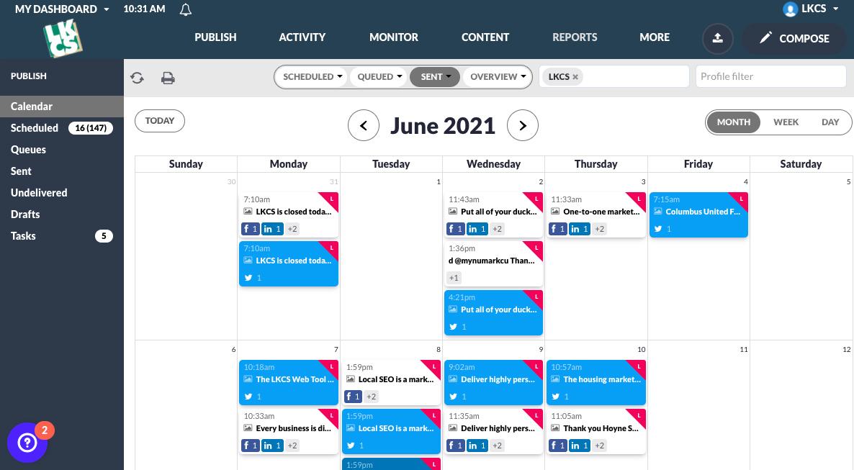 Social Media Management Tool New Calendar View