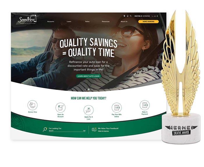 Soundview Credit Union Hermes Award Winning Website