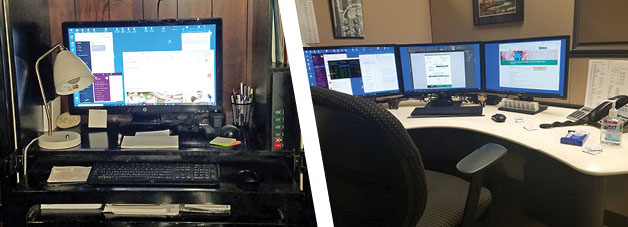 Work Stations At Home and In The Office