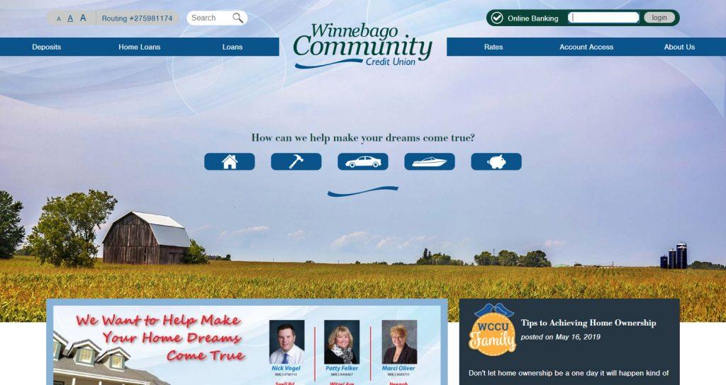 Winnebago Community Credit Union Website
